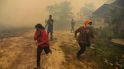 印尼森林火灾持续 灾区浓烟滚滚