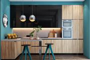 多款漂亮的蓝色的厨房�让你幸福每一天&a