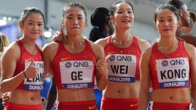 田联确认中国女子接力队获东京奥运门票