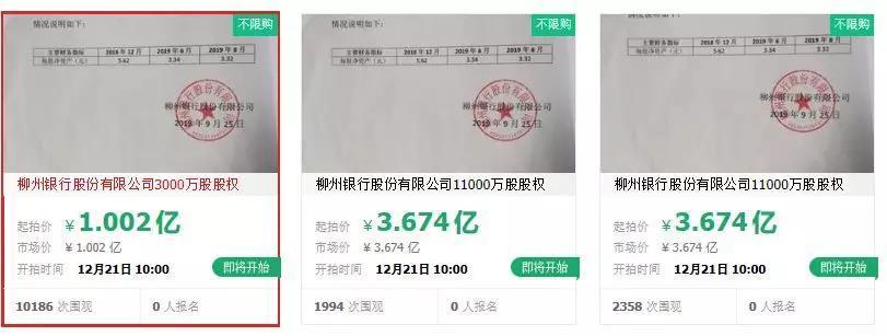 广西柳州银行2.5亿股被拍卖:曾涉420亿骗贷案 前董事长被当街砍杀