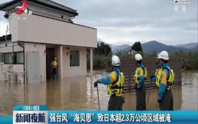 """强台风""""海贝思""""致日本超2.3万公顷区域被淹"""
