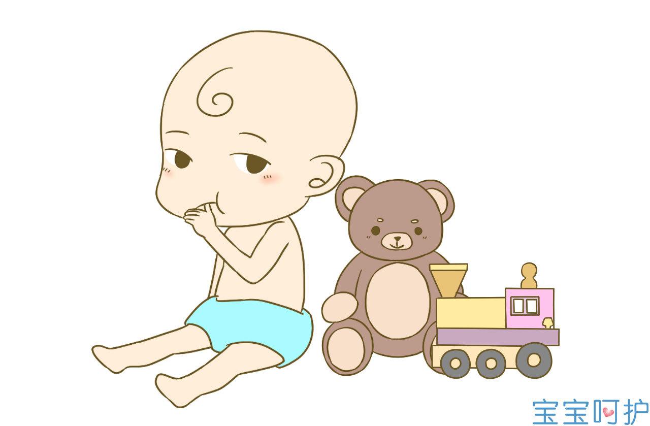 小宝宝吃手指 简笔画