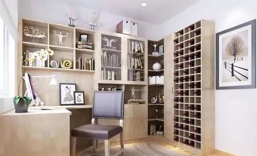 三角空间都拿来设计l型书柜,朋友们都夸好看又实用!图片