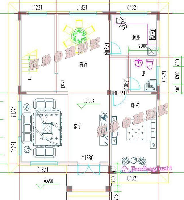 100平米9x10米7卧3卫简单三层农村自建房别墅设计图建筑施工指导图片