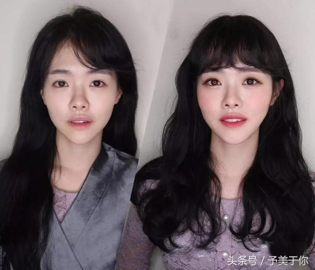 偏国字脸的妹纸特别不适合留这样中分的直发哦,没有一点刘海的遮挡图片