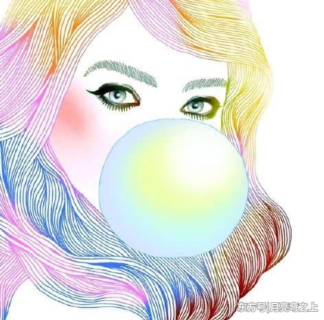 心理测试:你喜欢哪个吹泡泡糖的女孩?测你真正的合拍男友是谁!