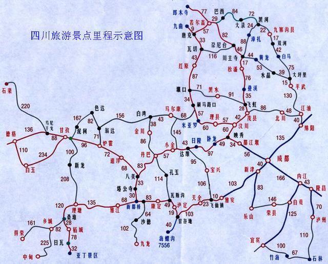 四川景点地图