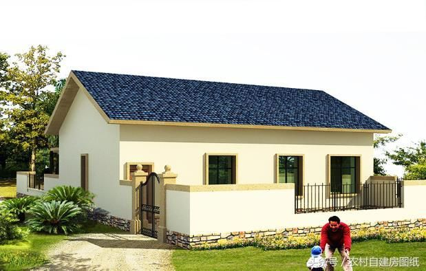 2款带庭院一层农村别墅,一款18万,一款12万,建出来值100多万