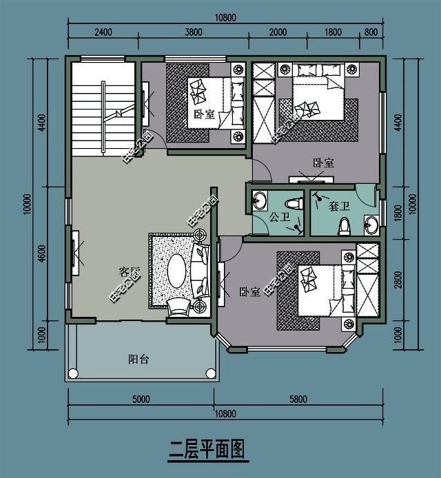0米x10.0米,热带版通用版哪个平面图方案好?