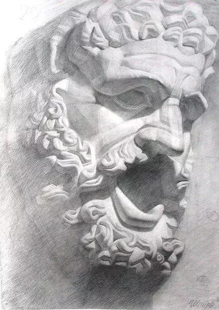 03 画好素描,必须了解头颅结构 头部有很多块骨骼结构组成 所以在
