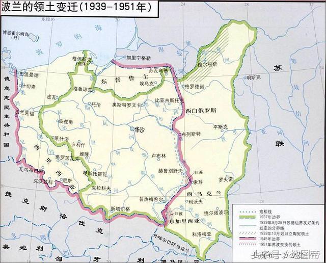被波兰割走一大片国土,也就是德国本土与东普鲁士之间的但泽走廊,从
