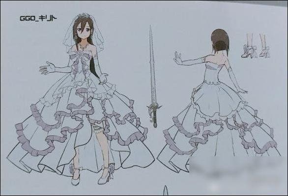 穿婚纱的女孩简笔画