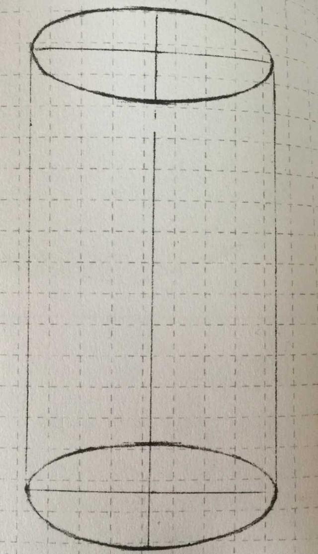 素描实用教程 圆柱体的绘制