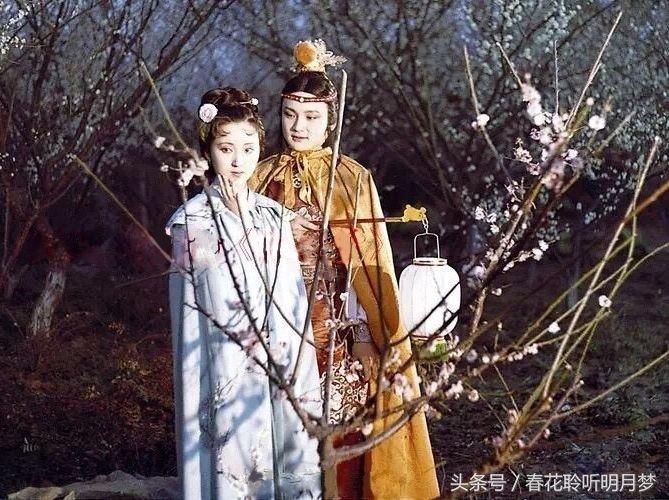 87版红楼梦宝黛唯美剧照,第一幅可爱,最后一幅情深