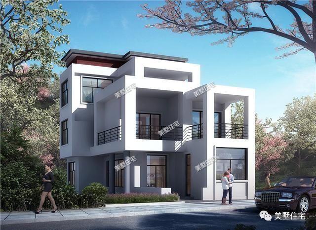 现代风格的二层小别墅,开间只有6米哦,一样设计感十足!