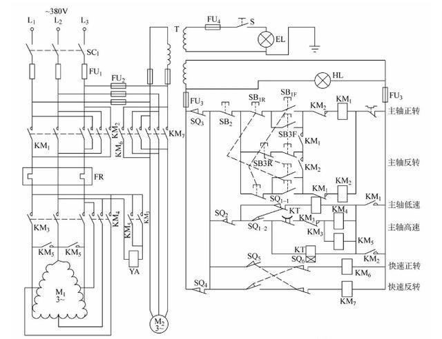 10,t68型卧式镗床控制电路图片