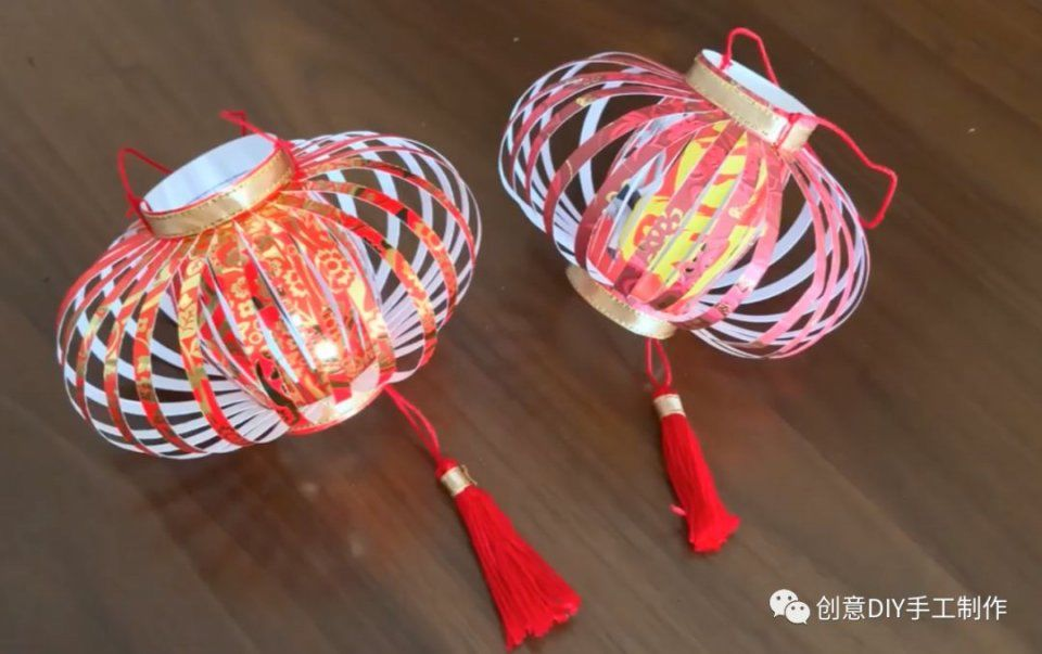 筷子做创意灯笼