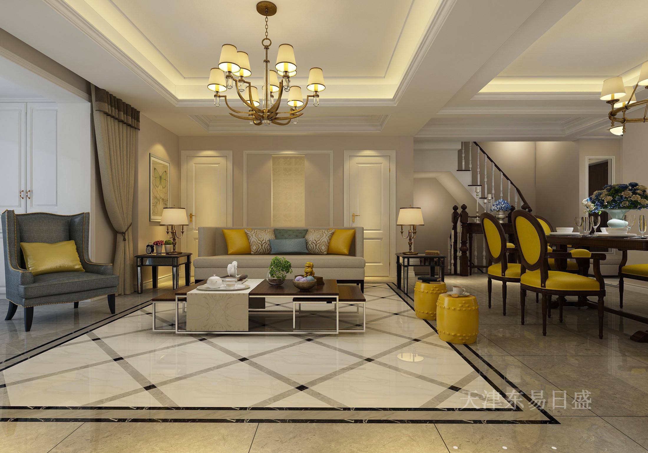 200平现代美式风格别墅装修效果图,华美,富丽,浪漫