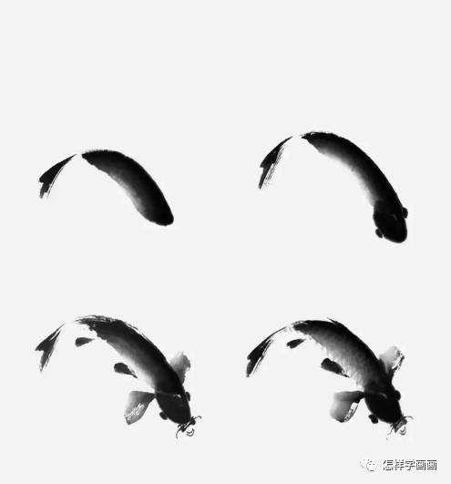 国画-写意鲤鱼画法详解