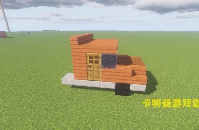 我的世界:教你建造一辆拉猪的红色卡车,还原砸猪神图