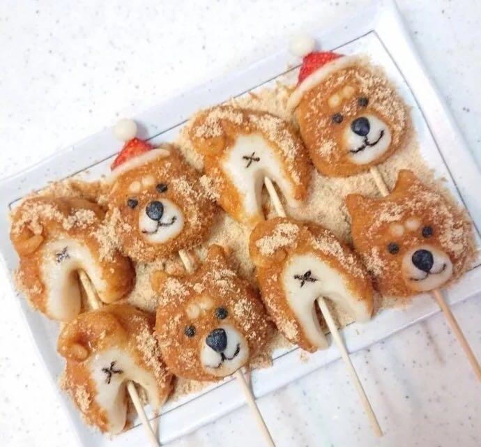 网红萌系动物小甜点,柴犬汤圆,做法超级简单呢