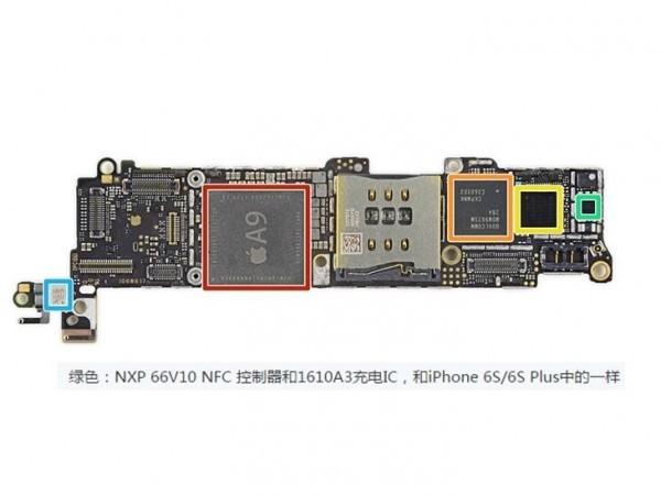 即便更换大功率充电器,iphone se中的1610a3充电ic也会将输入电流压到