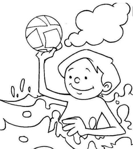 水里玩耍,嬉戏 结言:以上为大家分享的简单漂亮有关夏天的简笔画是不图片