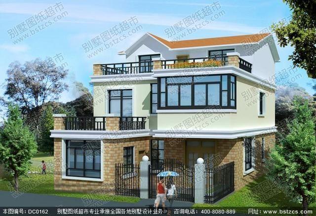 三层实用农村房屋设计效果图及施工图图片