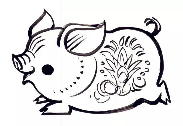 名家画猪,祝您2019诸事如意!图片