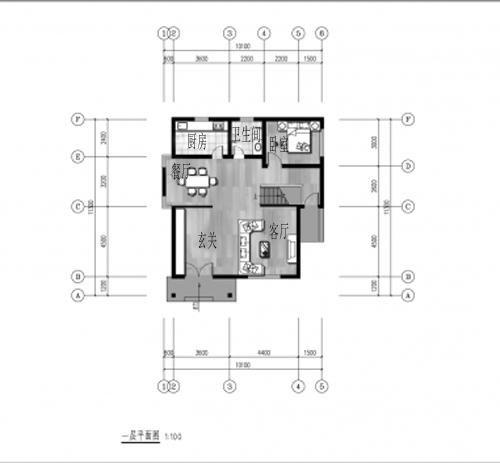 20万占地110平方米二层农村自建房设计图图片