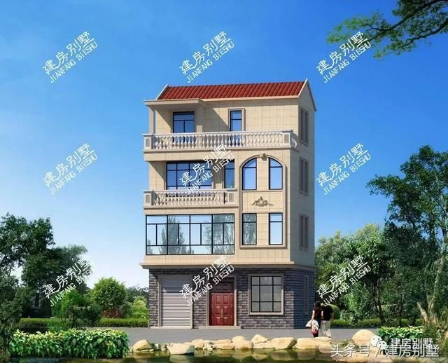 第1款 四层别墅,一层可以做商铺;可以几兄弟共建一栋每层都做成套间