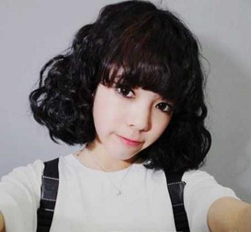 发型烫玉米味道图片超有短发的短发v发型圣薇娜烫发
