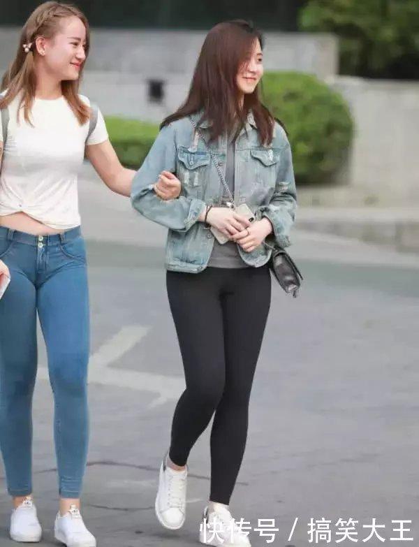 大象裤闺蜜丰腴的图片腿勒痕明显,微胖紧身更我的微信没钱了身材搞笑图片