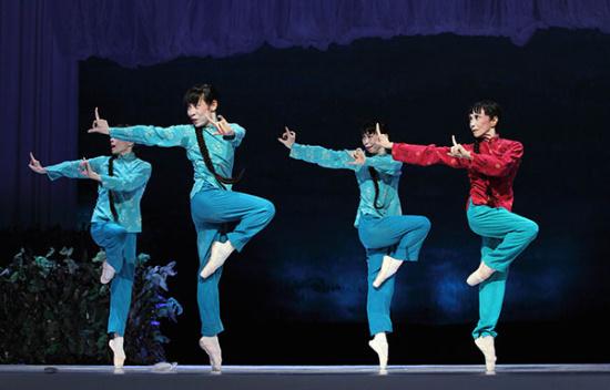 """69岁森下洋子出演""""喜儿 日本松山芭蕾舞团第15次访华演出图片"""