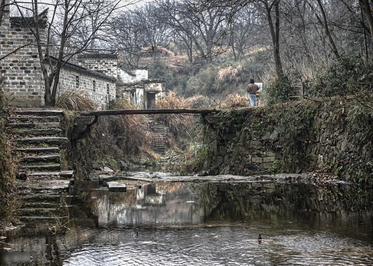 安徽宣城市,查济古村落,艺术爱好者理想的写生基地图片