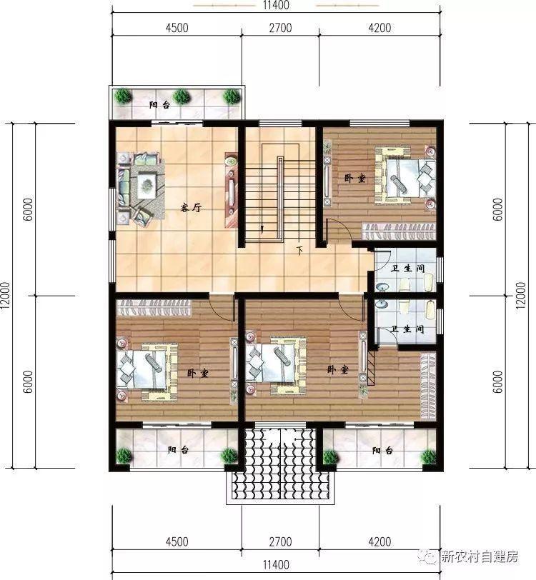 10款二层农村别墅设计图,第5款最便宜,第6款最受欢迎