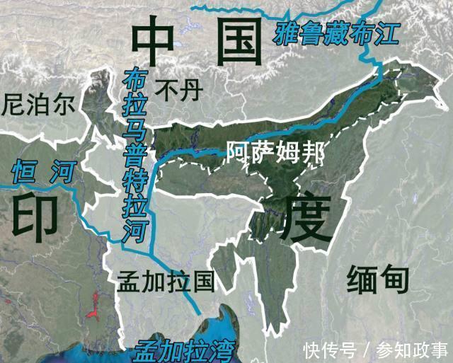 雅鲁藏布江 流经哪几个国家 地图