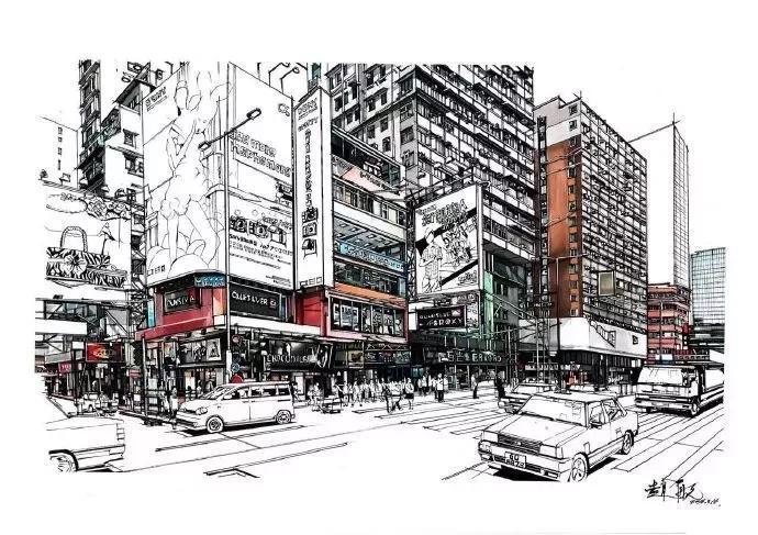 香港巴士手绘图