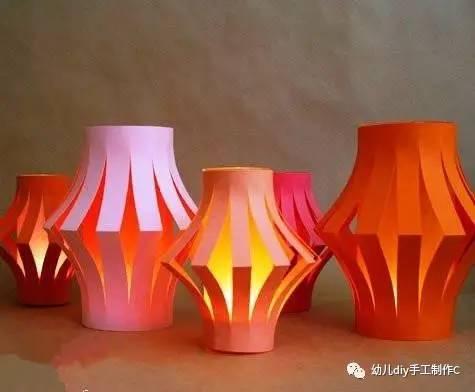 手工制作灯笼图解步骤图 手工剪纸制作一盏漂亮的纸灯笼将会为美好的