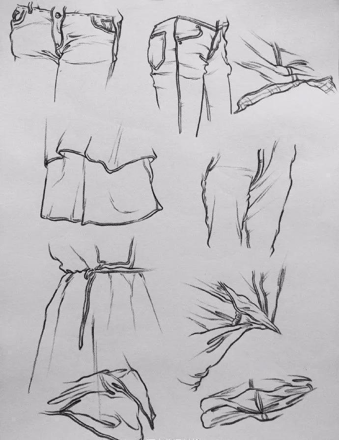 素描褶皱画法步骤