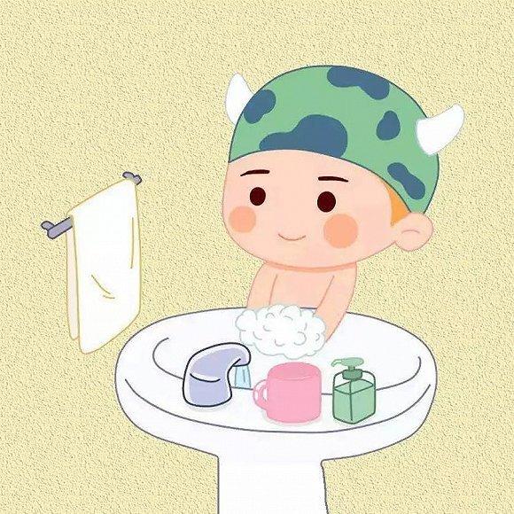① 勤洗手图片