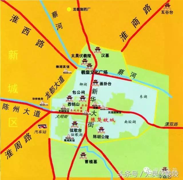 淮阳旅游景点分布图