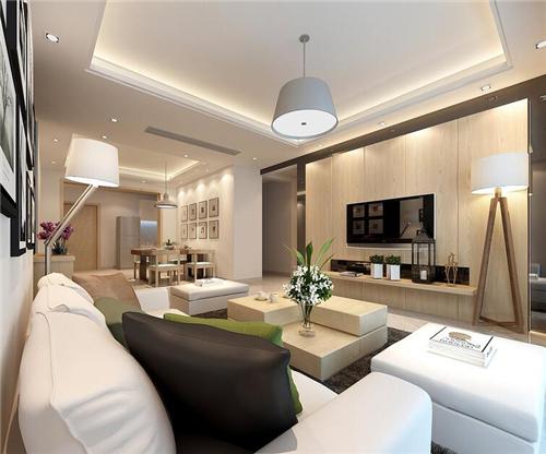 90平米房子装修效果图 简单设计温和安居案例