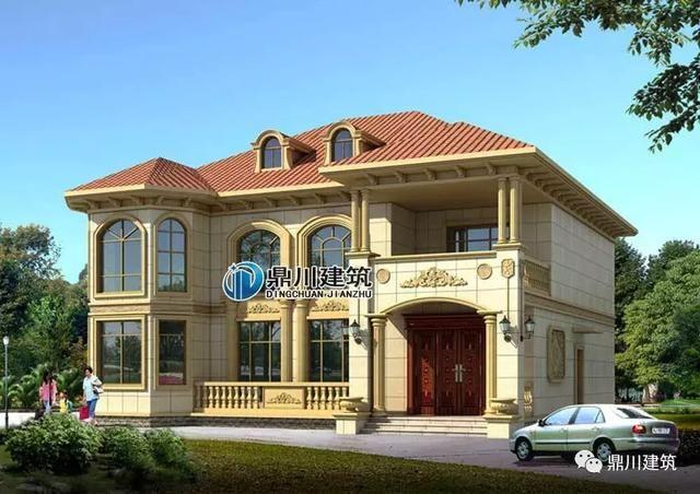 这些三层的小别墅,有时尚的简欧风格,有雅致的小清新风格,还有平顶的.