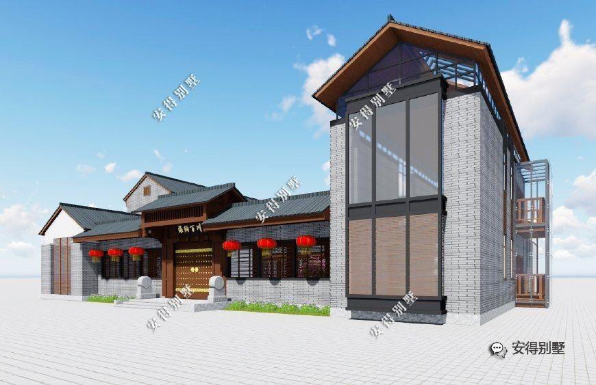 新中式传承经典之美,5款农村四合院大集合,含效果图 平面图图片