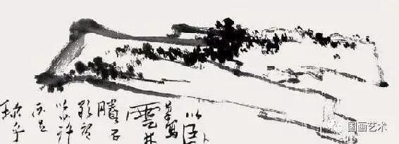 作画步骤如下: (1)笔尖蘸浓墨,从外形开始,勾皴结合画出大形,石头根部