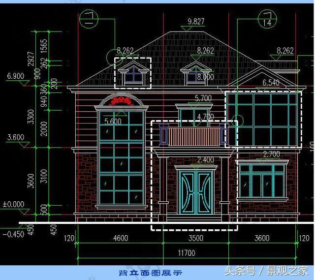 农村二层欧式自建房图纸 ,复式结构别墅设计施工图纸