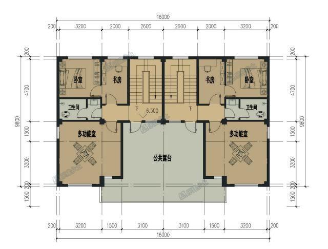 广东乐昌三层欧式双拼别墅设计,16x10米,轻奢大气图片