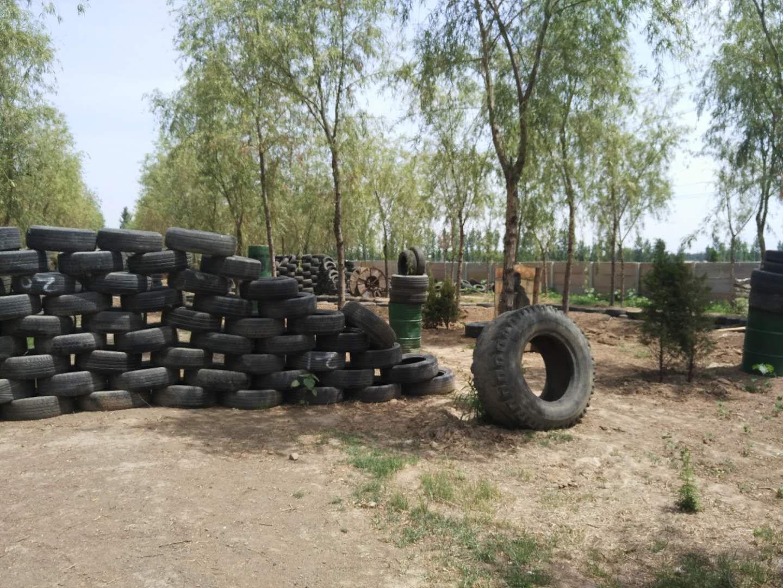 轮胎掩体.场地比较大,在石家庄和邢台周边属于专业的真人cs基地.图片