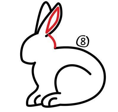 教你简单几笔画一个可爱小白兔,亲子早教简笔画